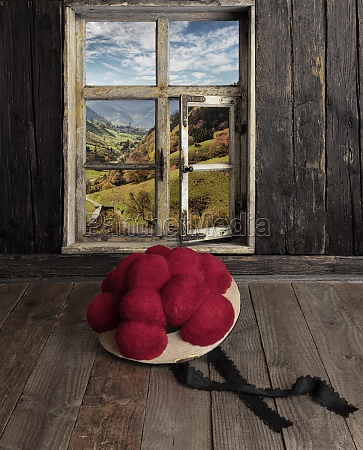 view from a farmhouse parlor with