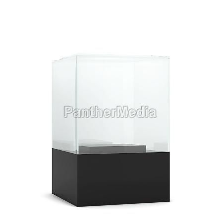 empty glass display
