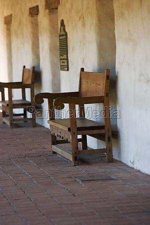 armchairs in an empty corridor