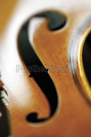 extreme close up of violin