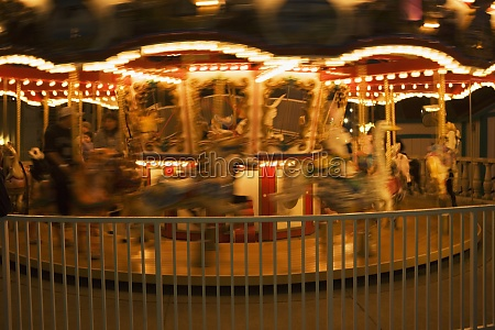 close up of a carousel at