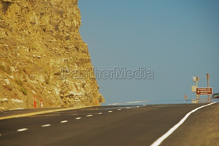 empty stretch of road