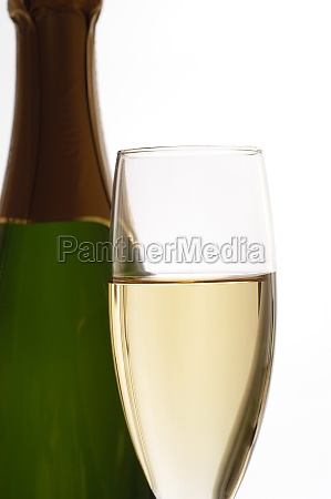 close up of champagne in a