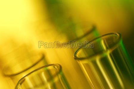 close up of test tubes