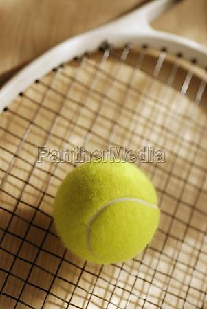 close up of a tennis ball