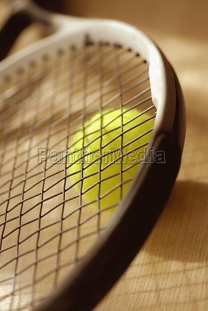 close up of a tennis racket