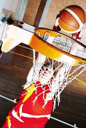 basketball player shooting at goal