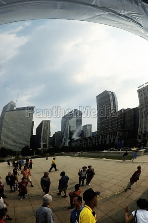 low angle view of a skyscrapers