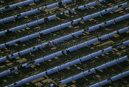 solar power via parabolic trough mirrors