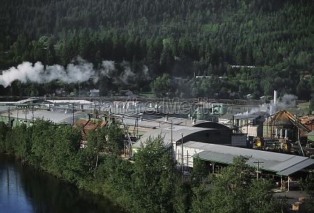 aerial of large sawmill idaho