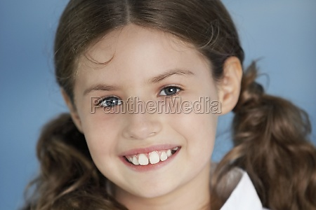 close up of a girl smiling