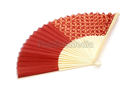 japanese folding fan isolated on a