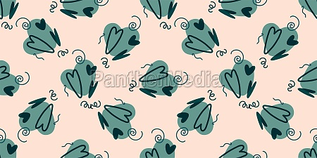 seamless pattern with hearts background for