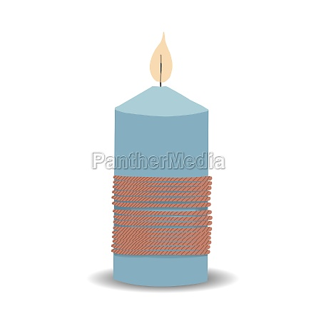 the candle is blue decorative candle