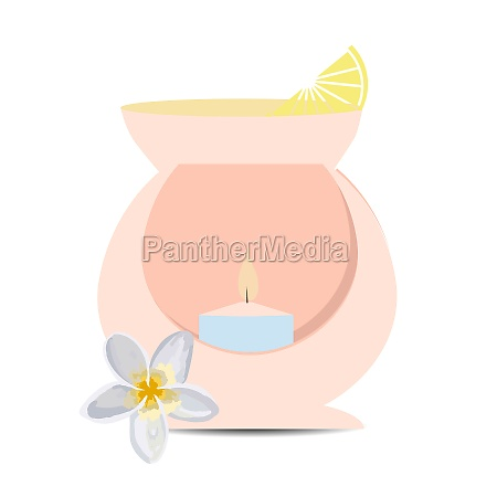 aromalapma heating candle essential oil for