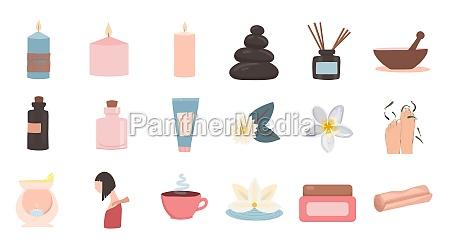 set of flat vector illustrations of
