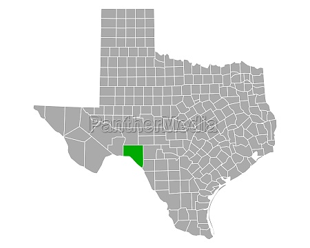 map of val verde in texas