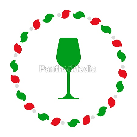 wine glass and wreath