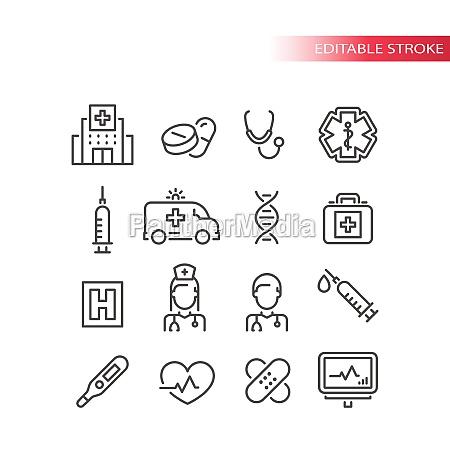 medical or medicine line vector icon