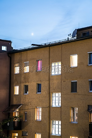urban city life flats and apartments