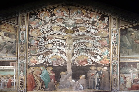 crucifixion represented as tree of life