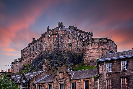 view on edinburgh castle from heriot