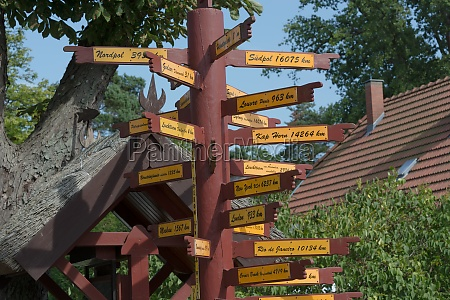 signpost in front of the amber