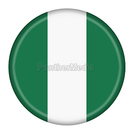nigeria flag button 3d illustration with