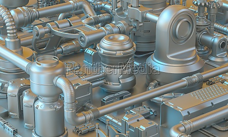 background 3d render of abstract sci