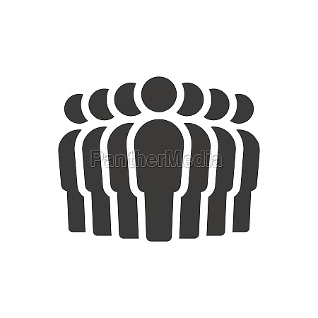 group of people black vector icon