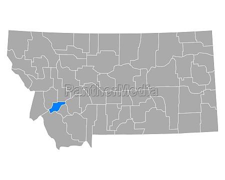 map of deer lodge in montana