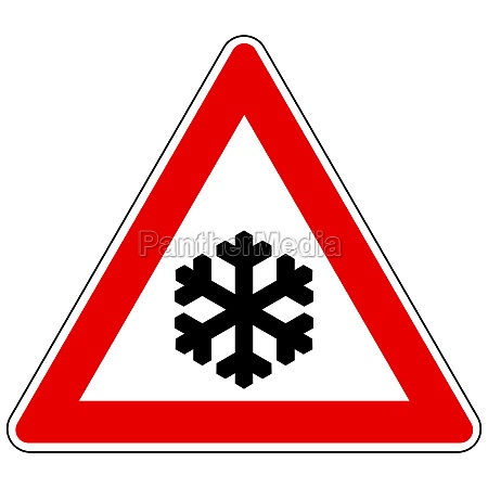 snow flake and attention sign