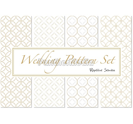 wedding patterns in gold and white