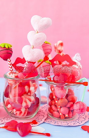 little jar with cute sweets for
