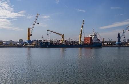 cargo ship at quay