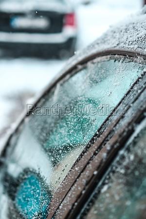 close up shot of car door