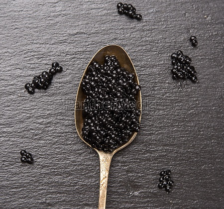 caviar of paddlefish fish in a