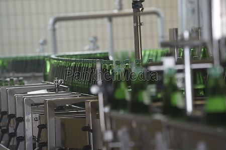 bottling of mineral water in green