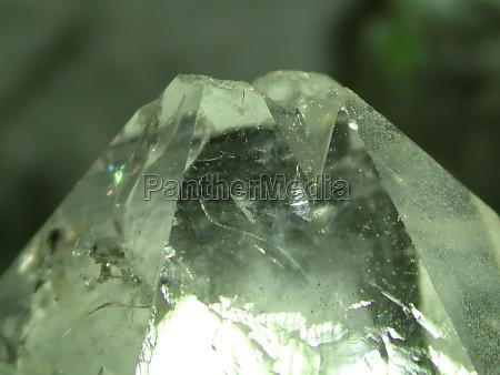 rock crystal gemstone with pleochrism