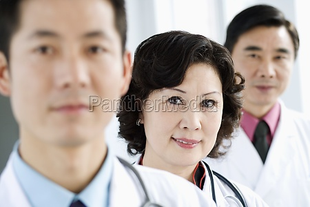 portrait of two male doctors with