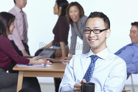 portrait of a businessman sitting on