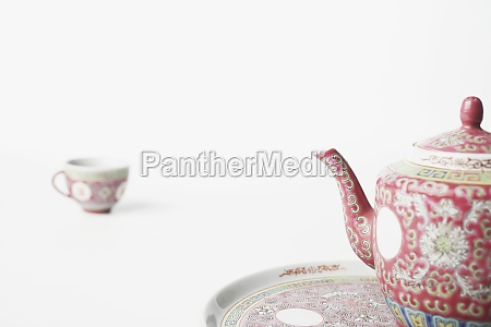 close up of a teapot on