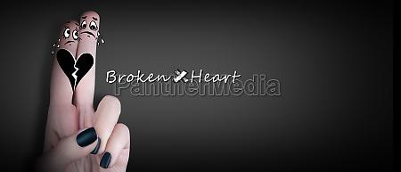 broken heart love and valentines day