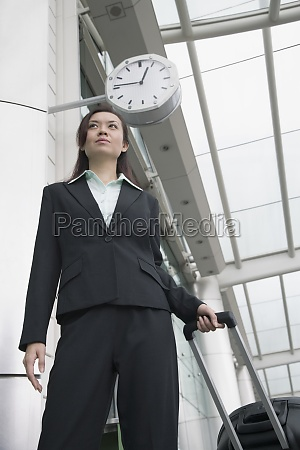 low angle view of a businesswoman