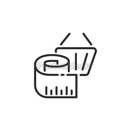 measuring meter and shopping basket thin