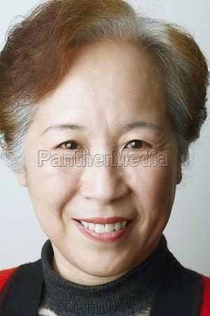 close up of a mature woman