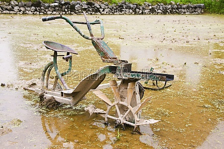 agricultural equipment in a field xingping