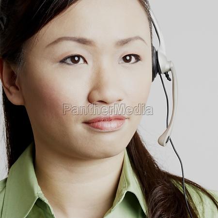close up of a female customer