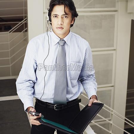 portrait of a male customer service