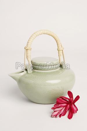 close up of a tea kettle